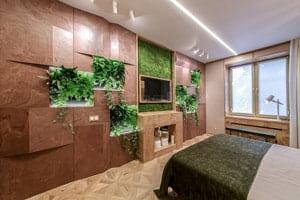 Спальня в городской квартире