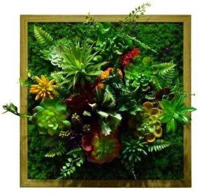 Картина из искусственных растений