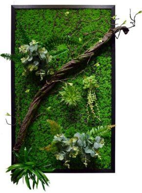 Панно из искусственных растений