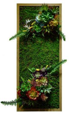 Панно из смешанных сортов искусственных растений
