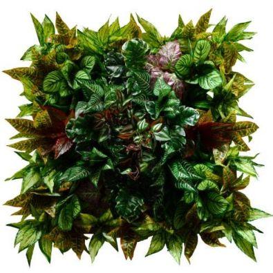 Панно из искусственных лиственных растений