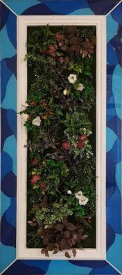 фитокартина с цветущими растениями