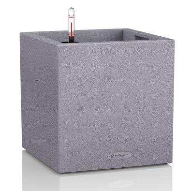 Кашпо Lechuza Canto Color куб серый камень