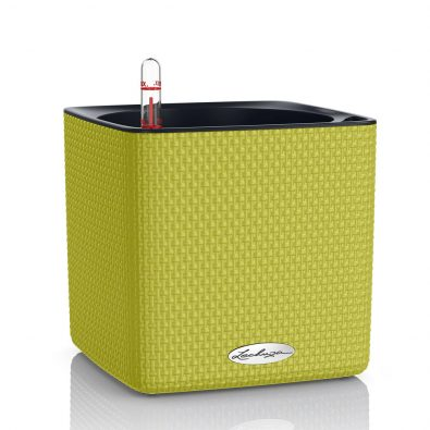 Кашпо Lechuza Cube Color зелёный лайм