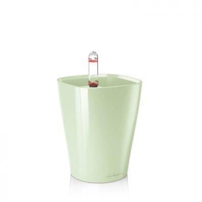 Кашпо Lechuza Mini-Deltini светло-зелёное глянцевое