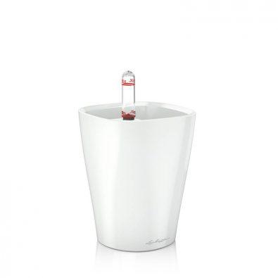 Кашпо Lechuza Mini-Deltini Белое глянцевое