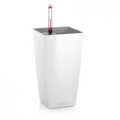 Кашпо Lechuza Mini- и Maxi-Cubi белое глянцевое