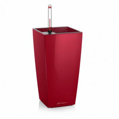 Кашпо Lechuza Mini- и Maxi-Cubi красное глянцевое